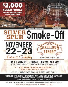BBQ smoke-off competition at Silver Spur Resort