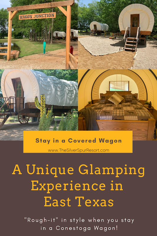 stay in a covered wagon