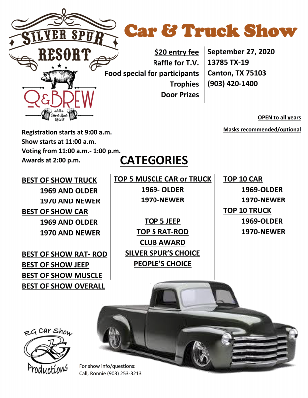 Car show at the Silver Spur Resort