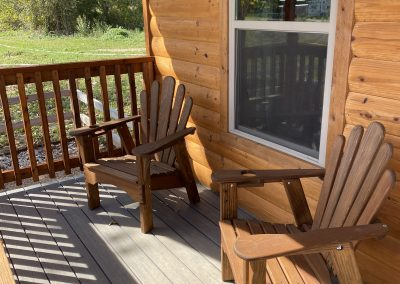 camping cabins front porch