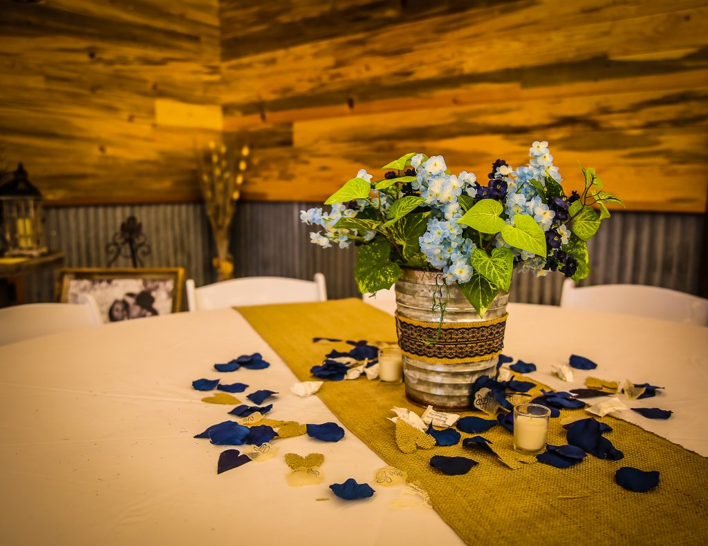 barn wedding centerpieces