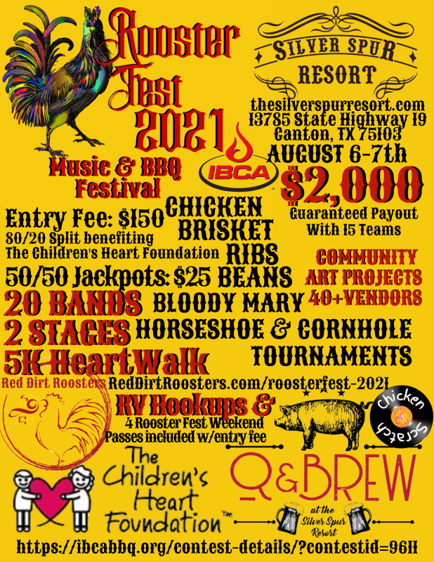 BBQ contest at Rooster Fest 2021